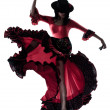Woman gipsy flamenco dancing dancer — Stockfoto