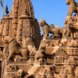 Rooftop of jain temples in jaisalmer rajasthan india - Stock Photo
