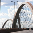 Stock Photo: Juscelino Kubitschek bridge in brasilibrazil
