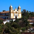 Matriz de Santo Antonio church of tiradentes minas gerais brazil - Stock Photo
