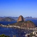 Botafogo and rio de janeiro and the sugarloaf brasil — Stock Photo #9079103