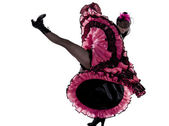 Woman dancer dancing french cancan — Stock Photo