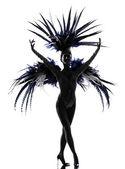 Showgirl woman revue dancer dancing — Stock Photo