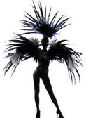 Showgirl woman revue dancer dancing — Stock Photo