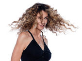 Beautiful expressive curly hair Woman — Stockfoto