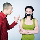 Young couple conflict — Stock Photo