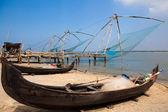 Chinese fishing net of cochin — Stock Photo