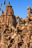 Rooftop of jain temples in jaisalmer rajasthan india — Stock Photo