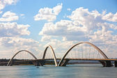 Juscelino Kubitschek bridge in brasilia brazil — Stock Photo