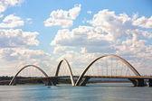 Juscelino Kubitschek bridge in brasilia brazil — Stock Photo