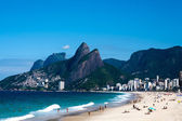 Leblon and ipanema beach — Stock Photo