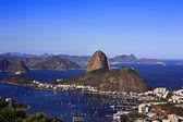 Botafogo y río de janeiro y el pan de azúcar brasil — Foto de Stock
