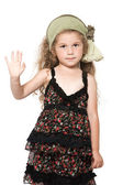 Little girl high five salute — Stock Photo