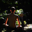 Yoga in the forest — Stock Photo
