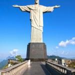 Christ the Redeemer statue corcovado rio de janeiro brazil — Stock Photo