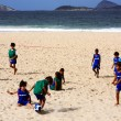 Ipanema soccer kids — Photo