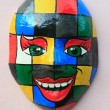 Mask on the wall olinda — Stock Photo