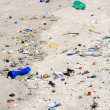 Pollution on the beach — Foto de Stock