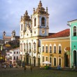 图库照片: Rosario dos pretos church in salvador of bahia