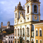 Rosario dos pretos church in salvador of bahia — Stock Photo