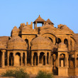 Stock Photo: BadBagh Cenotaph jaisalmer