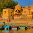 Stock Photo: Gad sagar tank near jaisalmer