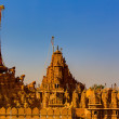 Stock Photo: Rooftop of jain temples of jaisalmer