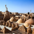 Rooftop of jain temples of jaisalmer — Photo