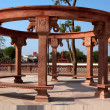 Stock Photo: Public bench in Bikaner