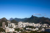 aerial view of botafogo from the sugar loaf in rio de janeiro brazil — Stock Photo