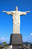 Cristo o redentor estátua corcovado rio de janeiro brasil — Foto Stock