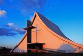 Church at sunset — Stock Photo