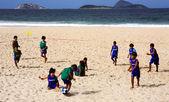 Ipanema piłka nożna dzieci — Zdjęcie stockowe