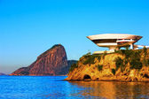 Museum of contemporary art in niteroi — 图库照片