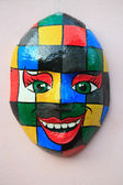 Mask on the wall olinda — Stock Photo