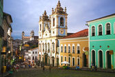 Rosario dos pretos church in salvador of bahia — ストック写真
