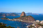 Botafogo and the sugar loaf mountain — Stock Photo