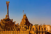Rooftop of jain temples of jaisalmer — Stock Photo