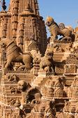 Rooftop of jain temples of jaisalmer — Stock Photo