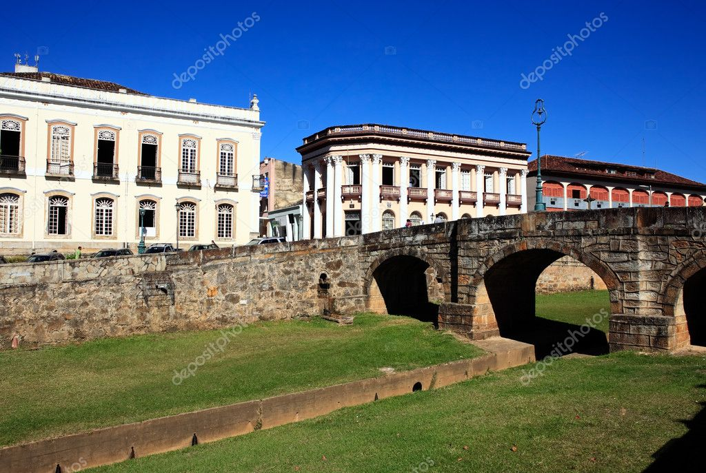 View of the typical town of sao joao del rey in minas gerais state brazil — Stock Photo #9708334