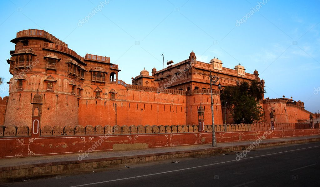Junagarh Fort in city of Bikaner rajasthan state in india — Stock Photo #9709631
