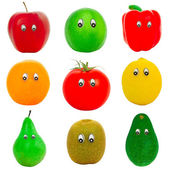 Fruits and vegetable with eyes — Stock Photo