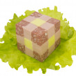 Delicacies in the form of a cube - Stok fotoğraf