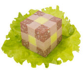 Delicacies in the form of a cube — Stock Photo