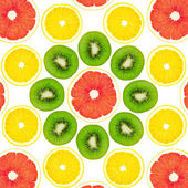 Pattern from a kiwi, a lemon and grapefruit — Stock Photo