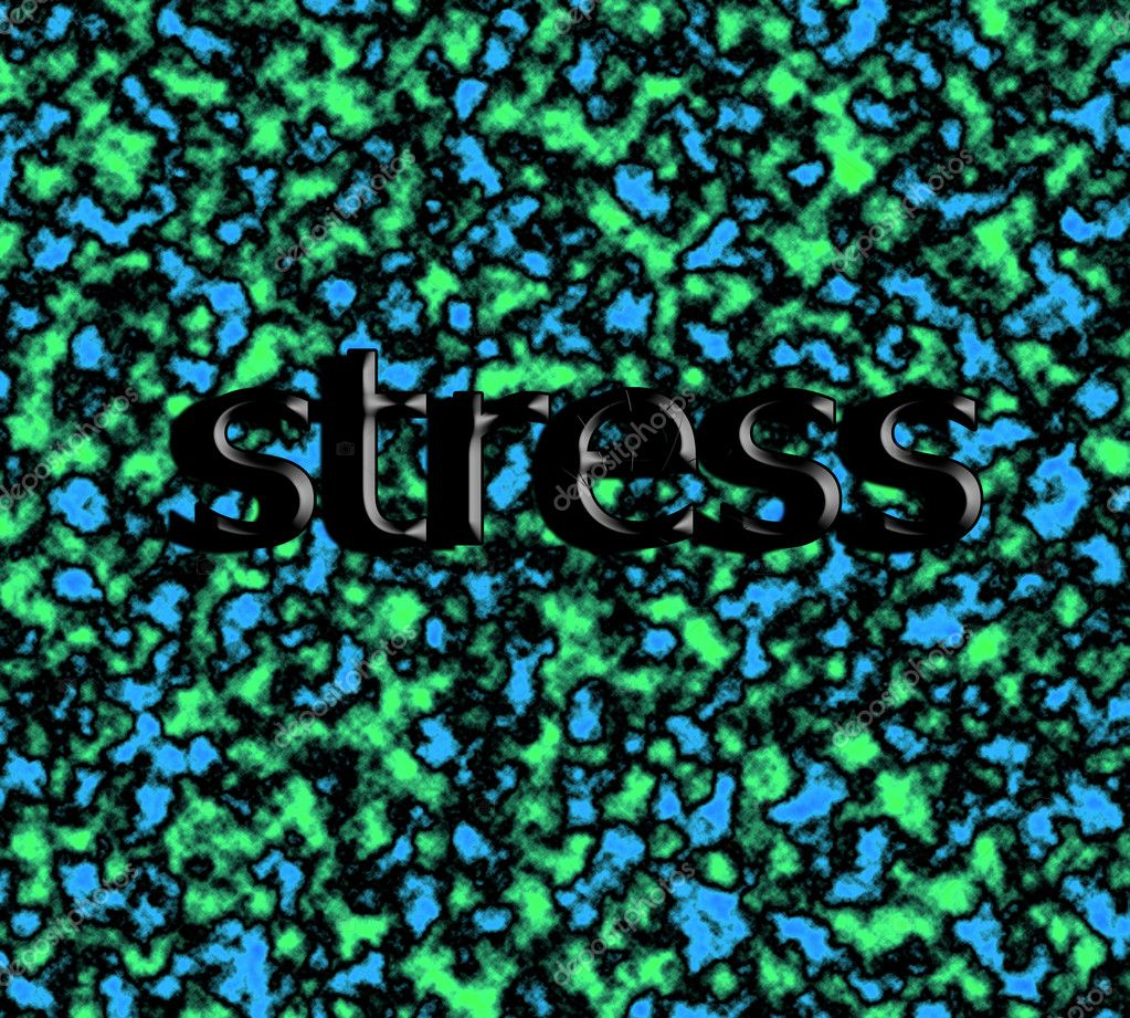 Toxic background whit word STRESS. — Stock Photo #10533065