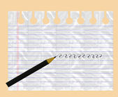 Sheet of exercise books and pencil. — Stock Photo