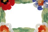 Frame made of knitted items — ストック写真