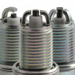 Spark plugs in profile different types — Stock Photo #9051925