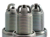 Spark plugs in profile different types — Stock Photo
